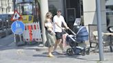 Christian Eriksen pictured on stroll with family a month after leaving hospital