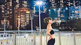 梁諾妍懷孕四個月堅持跑步