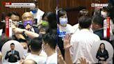 蘇貞昌施政報告遭藍委杯葛 藍綠推擠立院議事再度空轉