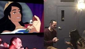 A man proposed to his girlfriend during a screening of 'Sleeping Beauty' by editing himself into her favorite Disney movie