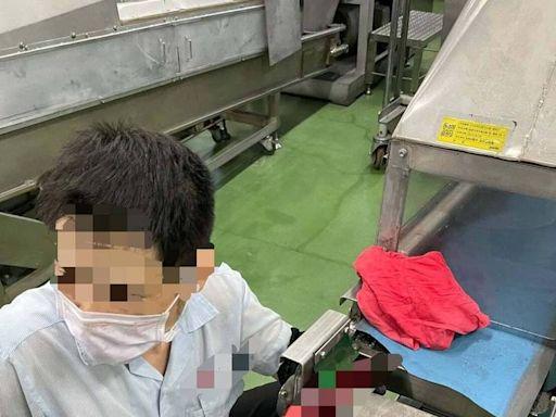 粉末冶金工廠工人左手臂捲入機台 手臂粉碎斷裂