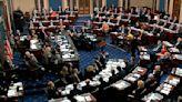 Stuck in their seats, senators confront trial tedium