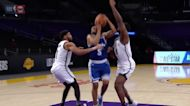 Talen Horton-Tucker with an and one vs the Brooklyn Nets