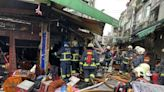 新北中和1傳統市場竄大火 攤商、住戶奔逃14人送醫無大礙