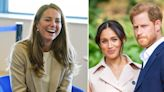 Kate Middleton Spotted Laughing After In-Laws Prince Harry & Meghan Markle Are Mocked For Landing...