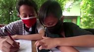 Indonesian students trade trash to study online