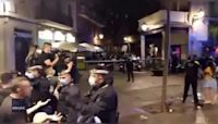 Spanish Police Disperse Large Crowd Not Adhering to COVID-19 Rules