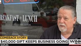 Anonymous Donor Gives Florida Cafe $40,000 To Stay Open