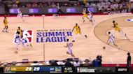 JaQuori McLaughlin with a 2-pointer vs the Los Angeles Lakers