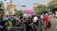 Police break up protests as Myanmar crisis heightens