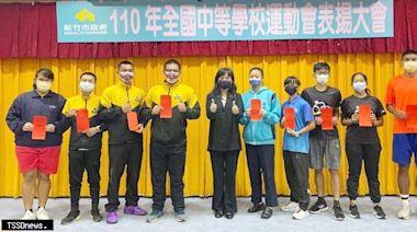 新竹市14金8銀9銅全中運再創高峰沈慧虹副市長親勉獲獎選手與教練