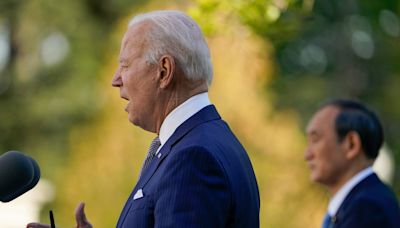 'Bring it up now!' Biden demands action in the Senate on guns during wide-ranging press conference with the prime minister of Japan