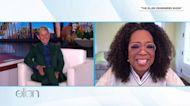 Oprah Winfrey visits Ellen DeGeneres