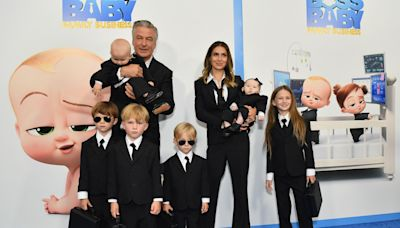 Alec and Hilaria Baldwin bring all 6 kids — in suits — to 'Boss Baby 2' premiere