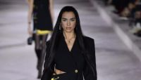 Dua Lipa Made Her Runway Debut in a Power Suit with Ab-Baring Cutouts
