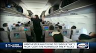 Manchester man trying to find unlikely travel compaion from a flight the morning of the Sept. 11 attacks