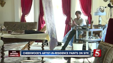 Cheekwood 2020 Artist-in-Residence is live painting through January 31