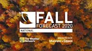 Canada's official 2020 Fall Forecast revealed, a warm one for many