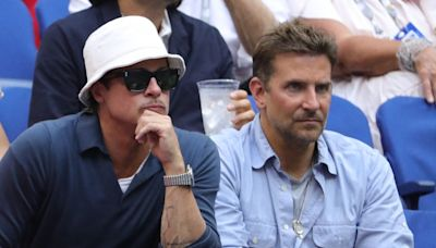 Brad Pitt Sits With Savannah Guthrie and Bradley Cooper at U.S. Open