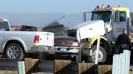 Video shows scene of deadly Southern California crash between vehicle and semitruck