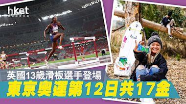 【東京奧運】第12日共17金 英國13歲滑板選手登場 - 香港經濟日報 - 即時新聞頻道 - 國際形勢 - 環球社會熱點