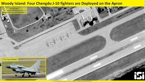 Satellite image shows Chinese fighter jets deployed to contested island