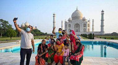 印度疫情放緩 泰姬瑪哈陵重新開放