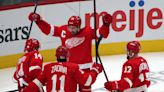 Detroit Red Wings captain Dylan Larkin ejected after check, throwing a punch