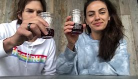 Ashton Kutcher and Mila Kunis launch 'Quarantine Wine' for charity