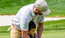 Justin Timberlake Teaches Son Silas, 4, To Play Golf & Hugs Wife Jessica Biel On Family Outing