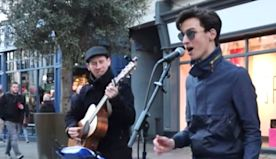 Man Joins Street Busker's Ed Sheeran Performance For Gorgeous Italian Duet.