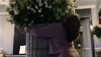 Lady Gaga Shared a Picture of the Massive Bouquet Michael Polansky Sent Her for Her 35th Birthday