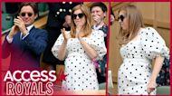 Princess Beatrice Shows Off Her Baby Bump In Polka Dot Dress At Wimbledon