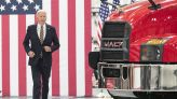 Biden touts his 'Buy American' plan during visit to Mack truck plant in Lehigh Valley