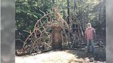 居家隔離沒事做!男子在後院打造「想像之門」 獲15萬網友讚爆