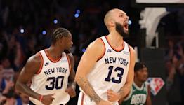 Knicks vs Celtics: Tom Thibodeau on blown lead, 2OT win|Knicks Post Game