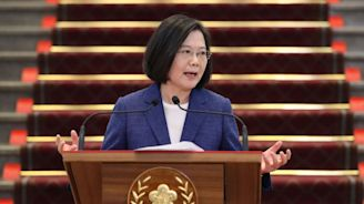 Taiwan's president holds off primary challenge in race that's all about China
