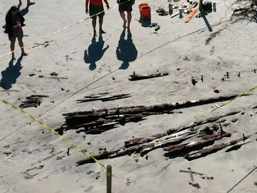 Tropical Storm Eta unearths 19th century shipwreck on northeast Florida coast