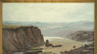 """""""萬里黃河第一壩""""!《美術經典中的黨史》帶你走近油畫《黃河三門峽·中流砥柱》……-國際在線"""