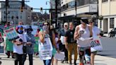 'We'll be here as long as it takes;' Supporters march through Worcester in solidarity with striking nurses