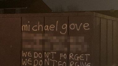 'We don't forget': Michael Gove's address appears on Belfast wall amid anger over Northern Ireland protocol