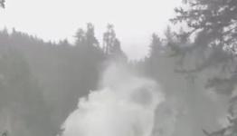 'Atmospheric River' Dumps Rain and Swells British Columbia Waterfall