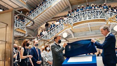 French President Emmanuel Macron Inaugurates La Samaritaine