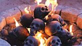 These Skull Logs are Perfect for Your Next Halloween Bonfire