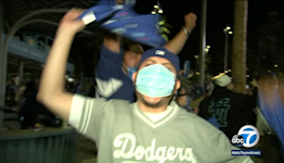 Dodgers win! Ecstatic fans celebrate dramatic win against Giants