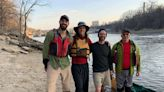 Paddling down the Mississippi, looking to set a record