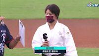 柔道女王連珍羚展現揮棒英姿 為桃猿開出辣酷甜好球 20210918