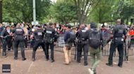 Secret Service Officers Push Back Indigenous Activists Outside White House