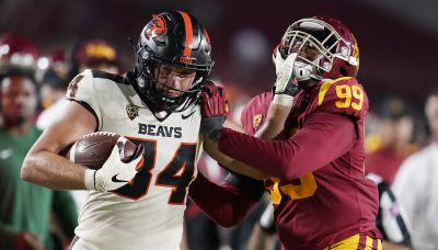 Beavers batter Trojans for first win in Coliseum since 1960