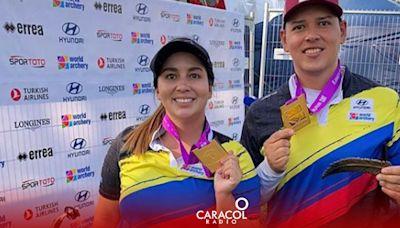 Doble título mundial para Colombia en arquería, así ganó las medallas
